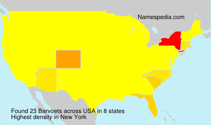 Surname Barvoets in USA