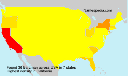 Surname Barzman in USA