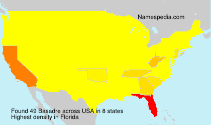 Surname Basadre in USA