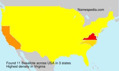 Familiennamen Basallote - USA