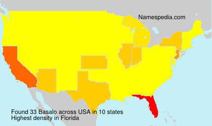 Surname Basalo in USA