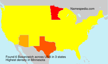 Surname Basarowich in USA