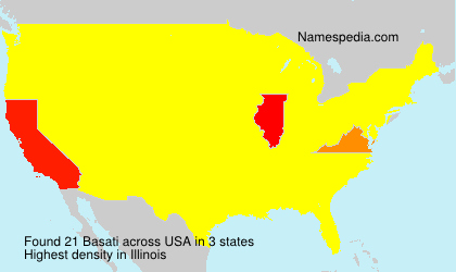 Surname Basati in USA
