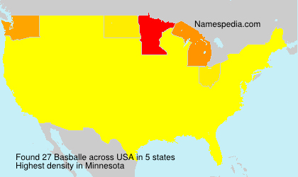 Familiennamen Basballe - USA