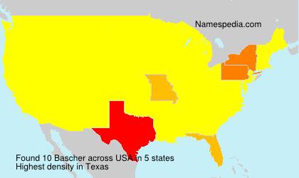 Familiennamen Bascher - USA