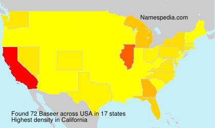 Surname Baseer in USA