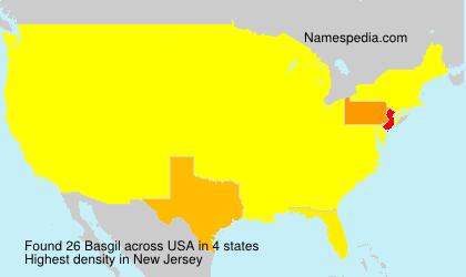 Familiennamen Basgil - USA