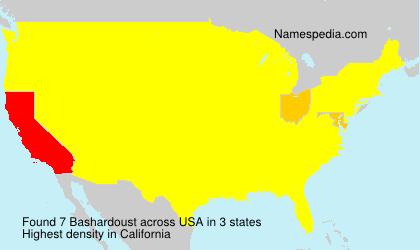 Surname Bashardoust in USA