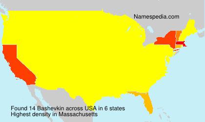Familiennamen Bashevkin - USA