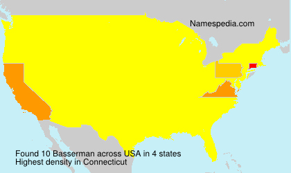 Surname Basserman in USA