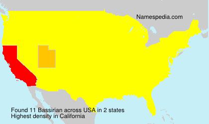 Surname Bassirian in USA