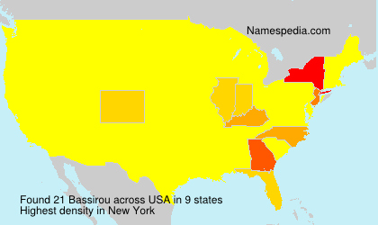 Surname Bassirou in USA