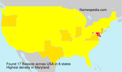 Surname Bassole in USA
