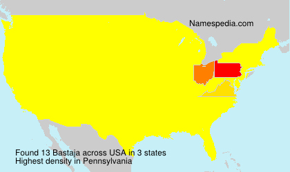 Surname Bastaja in USA