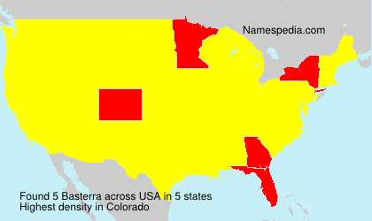 Surname Basterra in USA
