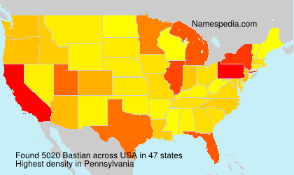 Surname Bastian in USA