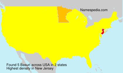 Familiennamen Basuri - USA