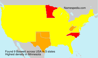 Surname Basweti in USA