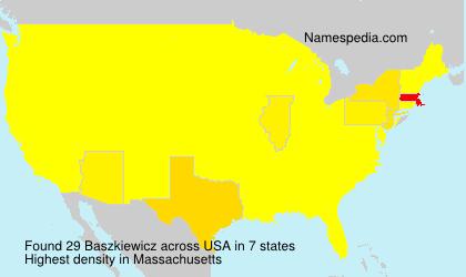 Surname Baszkiewicz in USA
