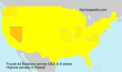 Surname Batalona in USA