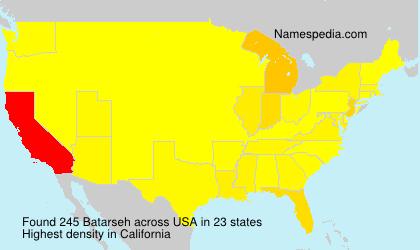 Familiennamen Batarseh - USA