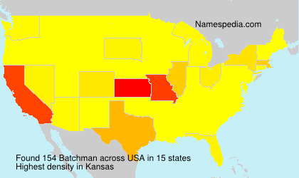 Surname Batchman in USA