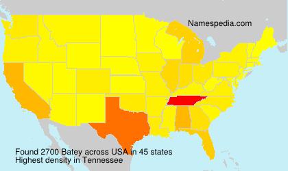 Familiennamen Batey - USA