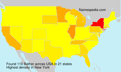 Surname Bather in USA