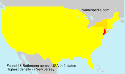 Familiennamen Bathmann - USA