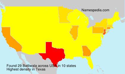 Surname Batliwala in USA