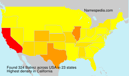 Surname Batrez in USA