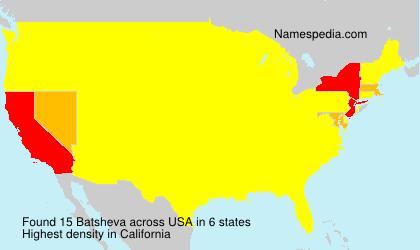 Surname Batsheva in USA