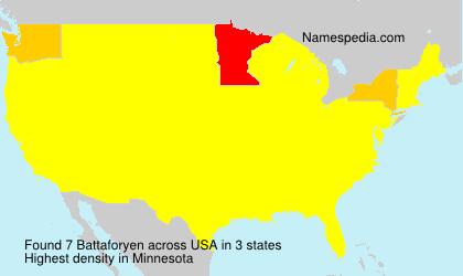 Familiennamen Battaforyen - USA