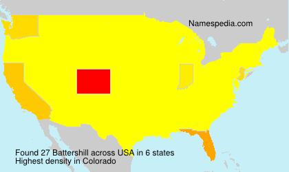 Familiennamen Battershill - USA