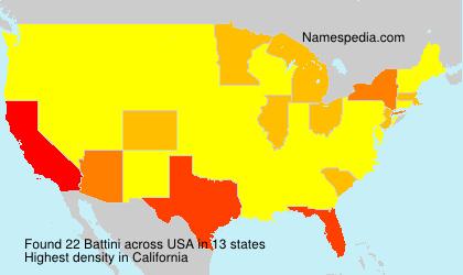Familiennamen Battini - USA