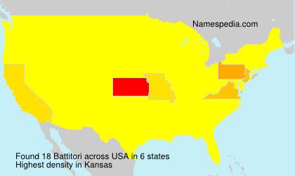 Familiennamen Battitori - USA