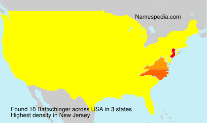 Surname Battschinger in USA