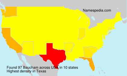 Surname Baucham in USA
