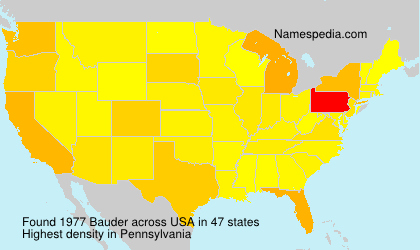 Surname Bauder in USA