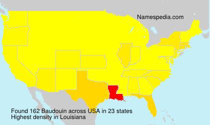 Surname Baudouin in USA
