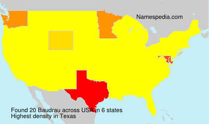 Surname Baudrau in USA