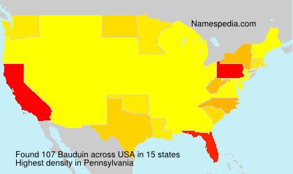 Surname Bauduin in USA