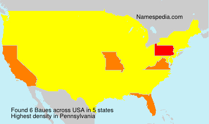 Surname Baues in USA