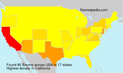 Surname Baume in USA