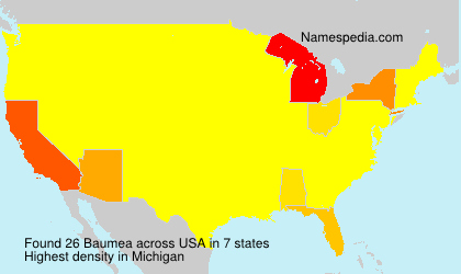 Surname Baumea in USA
