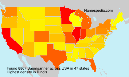 Surname Baumgartner in USA