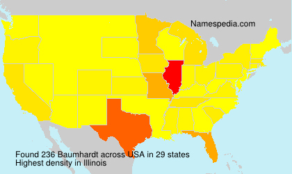 Surname Baumhardt in USA