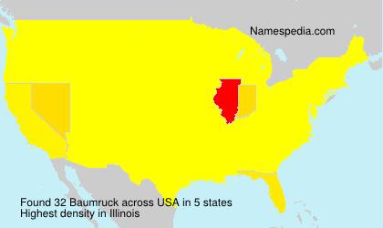 Surname Baumruck in USA