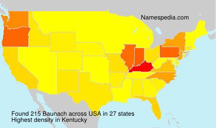 Familiennamen Baunach - USA