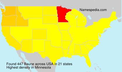 Familiennamen Baune - USA